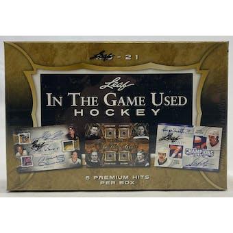 2020/21 Leaf In The Game Used Hockey Hobby Box