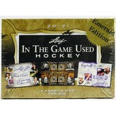 2020/21 Leaf In The Game Used Hockey Emerald Edition Hobby Box