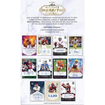 2021 Leaf Ultimate Draft Football Hobby Box (Presell)