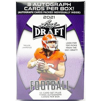 2021 Leaf Draft Football Hobby Blaster Box
