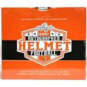 2021 Leaf Autographed Full Size Helmet Football Hobby Box