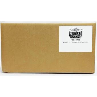 2021 Leaf Metal Draft Football Hobby 15-Box Case