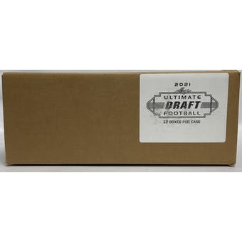 2021 Leaf Ultimate Draft Football Hobby 12-Box Case
