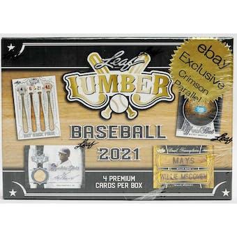 2021 Leaf Lumber Baseball Hobby Ebay Exclusive Box (Crimson Parallels!)