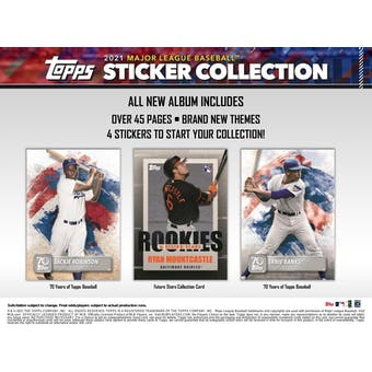 2021 Topps Baseball MLB Sticker Collection Album (Presell)