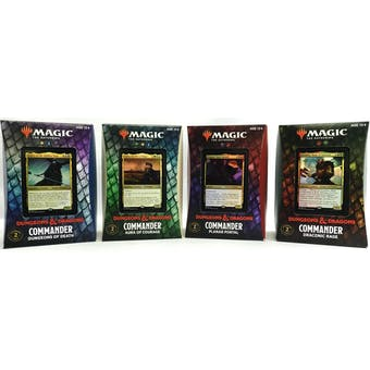 Magic the Gathering Adventures in the Forgotten Realms Commander 4-Deck Case