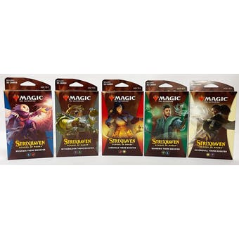 Magic The Gathering Strixhaven: School of Mages Theme Booster Pack - Set of 5