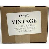2021 Onyx Vintage Baseball Hobby 24-Box Case