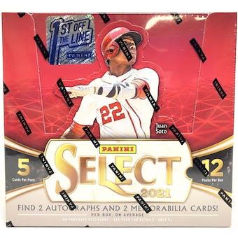 2021 Panini Select Baseball 1st Off The Line FOTL Hobby Box
