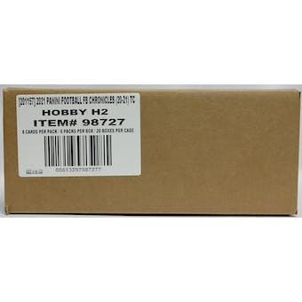 2020 Panini Chronicles Football H2 Hobby Hybrid 20-Box Case