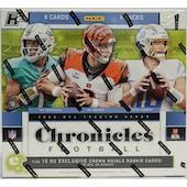 2020 Panini Chronicles Football H2 Hobby Hybrid Box