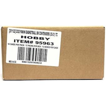2020/21 Panini Contenders Basketball Hobby 12-Box Case