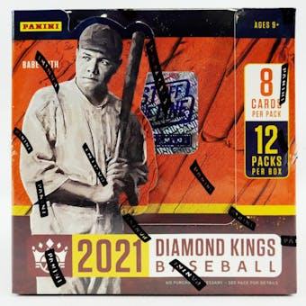 2021 Panini Diamond Kings Baseball 1st Off The Line FOTL Hobby Box