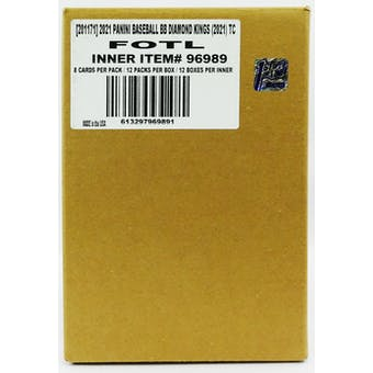 2021 Panini Diamond Kings Baseball Hobby 1st Off The Line FOTL 12-Box Case