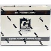 2021 Panini Donruss Baseball Jumbo Value 12-Pack Box
