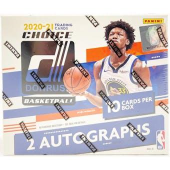 2020/21 Panini Donruss Choice Basketball Hobby 3-Box- DACW Live 30 Spot Random Team Break #3