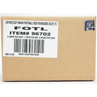 2020 Panini Encased Football Hobby 1st Off The Line FOTL 8-Box Case