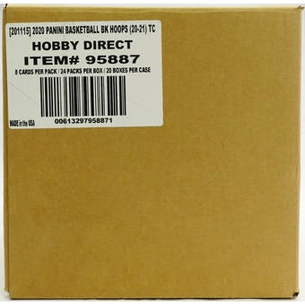 2020/21 Panini NBA Hoops Basketball Hobby 20-Box Case