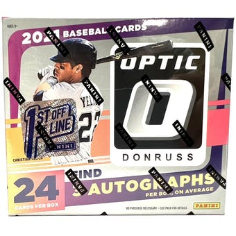 2021 Panini Donruss Optic Baseball 1st Off The Line FOTL Hobby Box