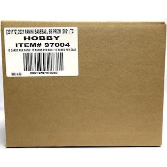 2021 Panini Prizm Baseball Hobby 12-Box Case