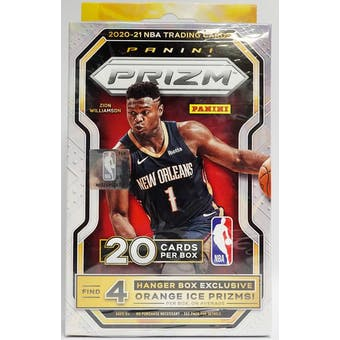 2020/21 Panini Prizm Basketball Hanger Box (20 Cards) (Walmart)