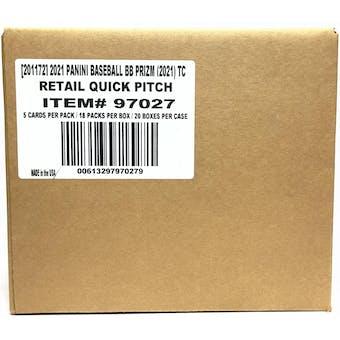 2021 Panini Prizm Quick Pitch Baseball 20-Box Case