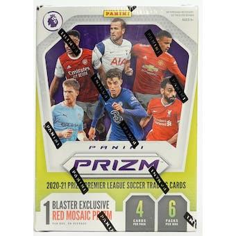 2020/21 Panini Prizm Premier League Soccer 6-Pack Blaster Box (Red Mosaic Prizms)