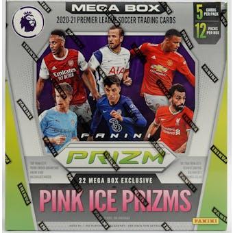 2020/21 Panini Prizm Premier League Soccer Mega Box (Pink Ice Prizms)
