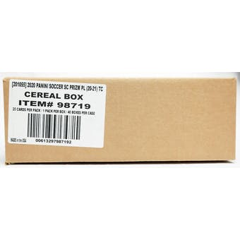 2020/21 Panini Prizm Premier League Soccer Cereal 40-Box Case