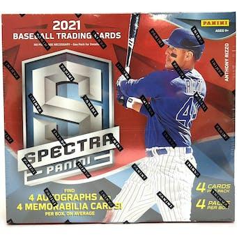 2021 Panini Spectra Baseball Hobby Box