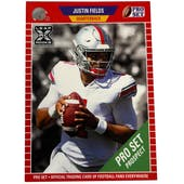 2021 Leaf Pro Set Justin Fields Rookie Card Background Variant