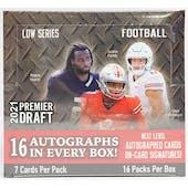 2021 Sage Hit Premier Draft Low Series Football Hobby Box