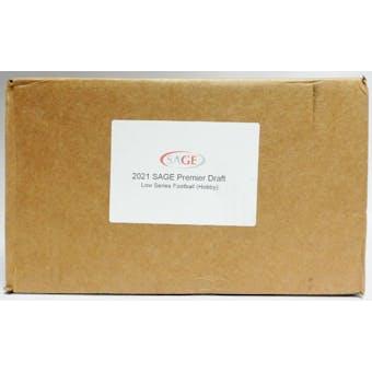 2021 Sage Hit Premier Draft Low Series Football Hobby 16-Box Case