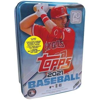 2021 Topps Series 1 Baseball Collectible Tin