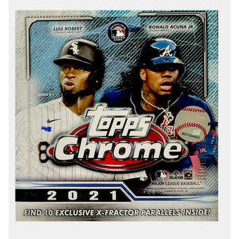 2021 Topps Chrome Baseball Mega Box