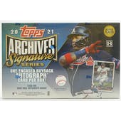 2021 Topps Archives Sig Series Baseball 20-Box Case- DACW Live 6 Spot Random Division Break #2