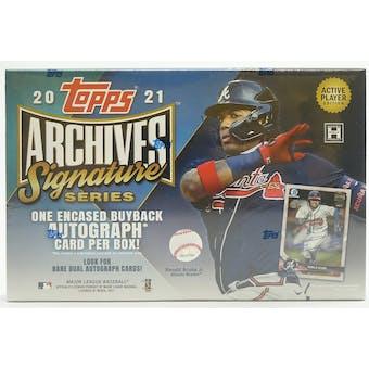 2021 Topps Archives Signature Series Baseball Hobby Box
