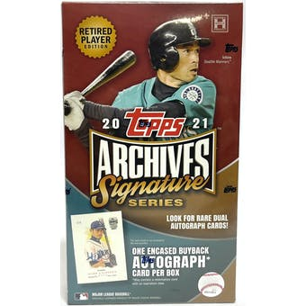 2021 Topps Archives Signature Series Retired Player Edition Baseball Hobby Box