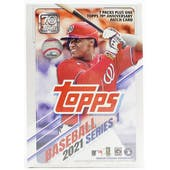 2021 Topps Series 1 Baseball 7-Pack Blaster Box (70th Anniversary Patch!)