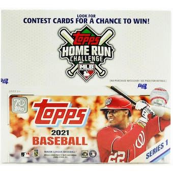 2021 Topps Series 1 Baseball Retail 24-Pack Box