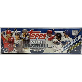 2021 Topps Factory Set Baseball (Box) (Blue)