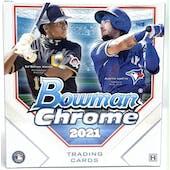 2021 Bowman Chrome Baseball Lite Hobby Box (Black & White Mini-Diamond Parallels!)