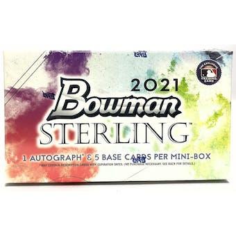 2021 Bowman Sterling Baseball Hobby Pack (Mini Box)