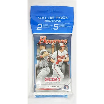 2021 Bowman Baseball Value Multi Pack (Camo Parallels!)