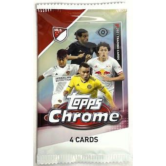 2021 Topps MLS Major League Soccer Chrome Hobby Pack
