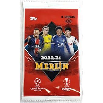 2020/21 Topps Merlin Chrome Soccer Hobby Pack