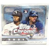2021 Topps Chrome Baseball Hobby Jumbo Box