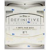 2021 Topps Definitive Collection Baseball Hobby Box