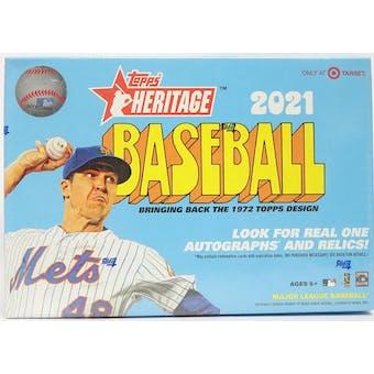 2021 Topps Heritage Baseball Mega Box (Red Border Base)