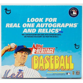 2021 Topps Heritage Baseball 24-Pack Retail Box